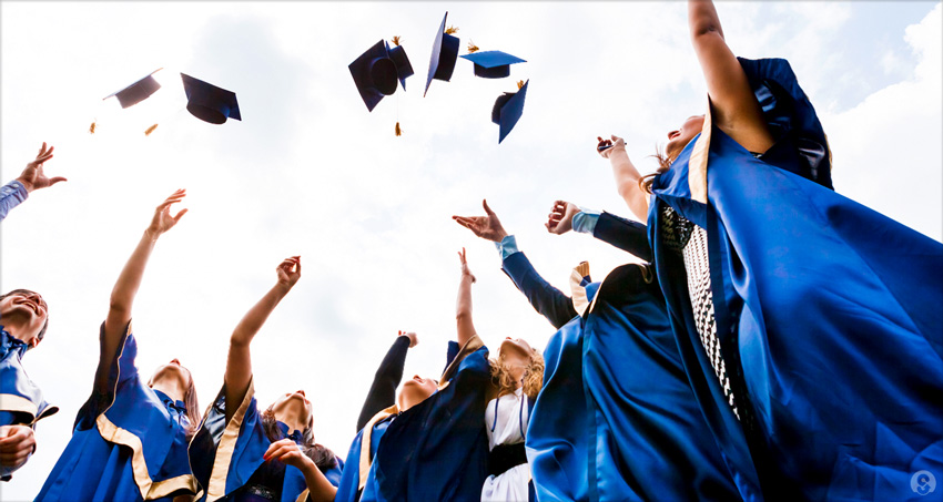College grads in blue startup fever